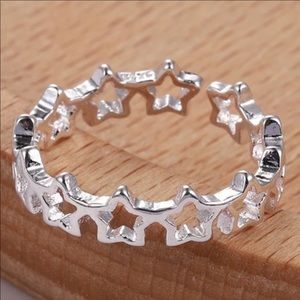 Dainty Silver Star Ring Toe Rings Knuckle Jewelry